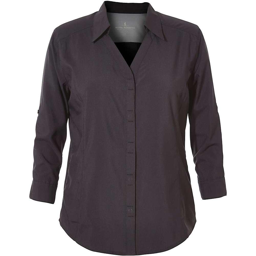 ロイヤルロビンズ レディース Shirt】Jet トップス Stretch レディース ブラウス・シャツ【Expedition Chill Stretch 3/4 Sleeve Shirt】Jet Black, 高品質:2252a76c --- sunward.msk.ru