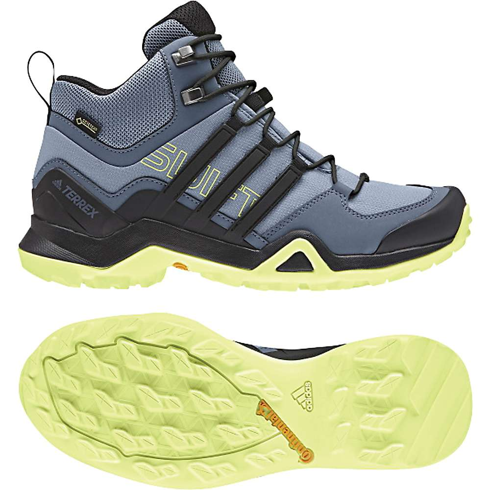 アディダス レディース ハイキング・登山 シューズ・靴【Terrex Swift R2 Mid GTX Shoe】Raw Grey / Black / Semi Frozen Yellow