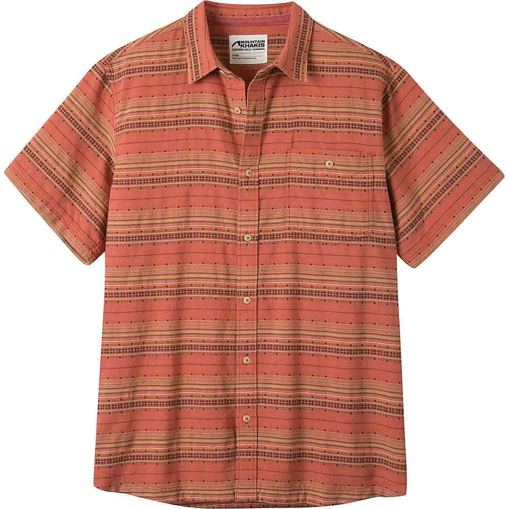 マウンテンカーキス メンズ トップス 半袖シャツ【Horizon SS Shirt】Rojo