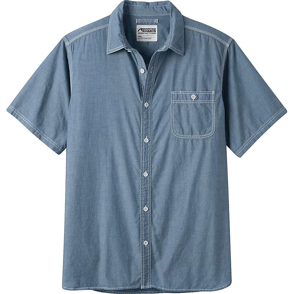 マウンテンカーキス メンズ トップス 半袖シャツ【Mountain Chambray SS Shirt】Deep Sea