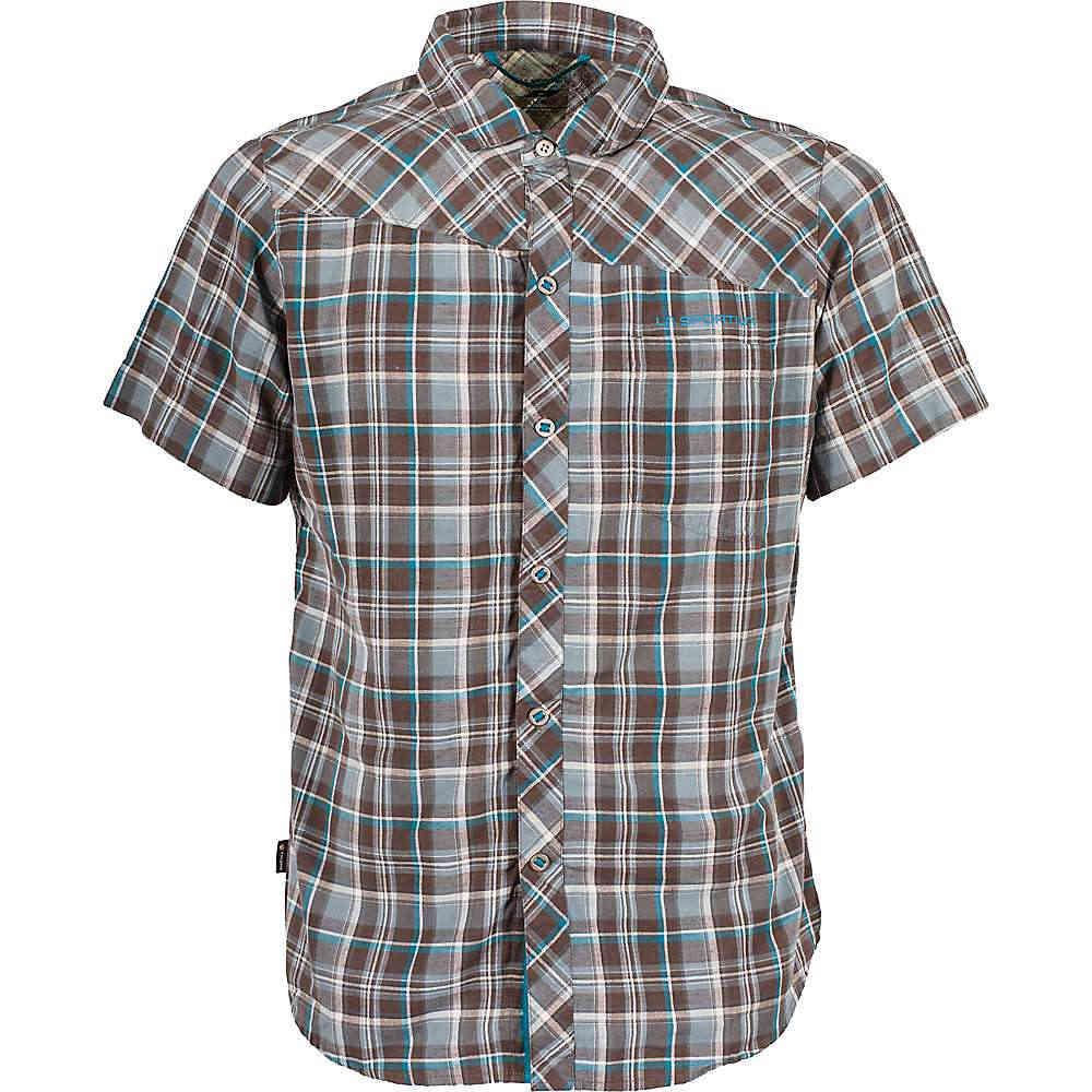 ラスポルティバ メンズ トップス【Pinnacle Shirt】Falcon Brown / Tropic Blue