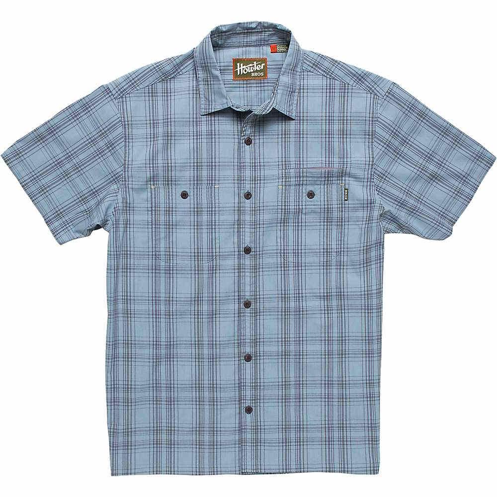 ホウラーブラザーズ メンズ トップス 半袖シャツ【Howler Bros Aransas Shirt】Avery Plaid High Blue
