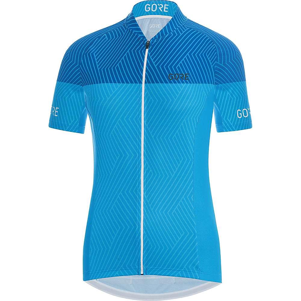 ゴア レディース 自転車 トップス【Bike Wear C3 Optiline Jersey】Dynamic Cyan / Ciel Blue