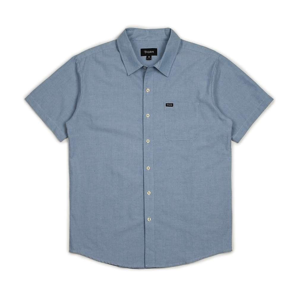ブリクストン メンズ トップス 半袖シャツ【Charter Oxford SS Shirt】Light Blue Chambray