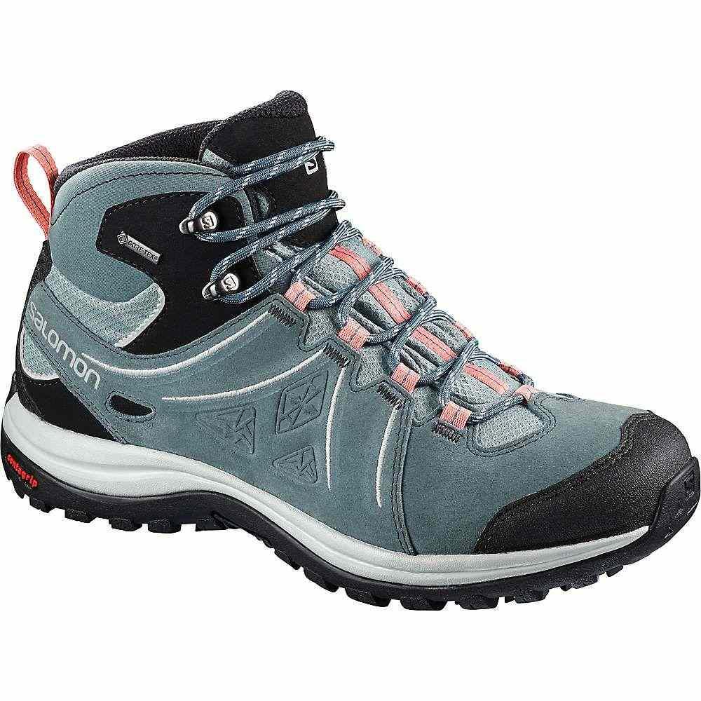 サロモン レディース ハイキング・登山 シューズ・靴【Ellipse 2 Mid Leather GTX Shoe】Lead / Stormy Weather / Coral Almond