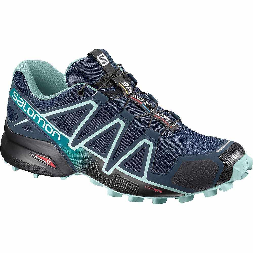 サロモン レディース 陸上 シューズ・靴【Speedcross 4 Shoe】Poseidon / Eggshell Blue / Black
