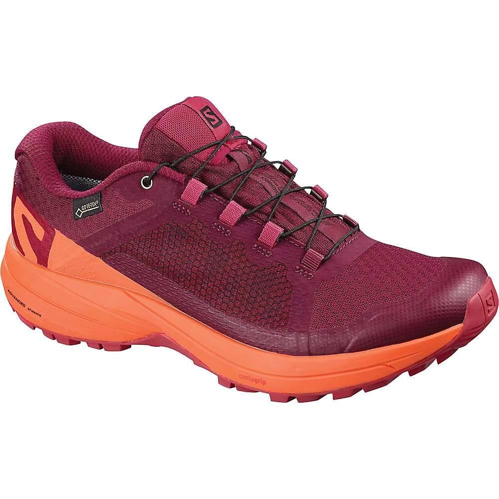 サロモン レディース 陸上 シューズ・靴【XA Elevate GTX Shoe】Beet Red / Nasturtium. / Virtual Pink