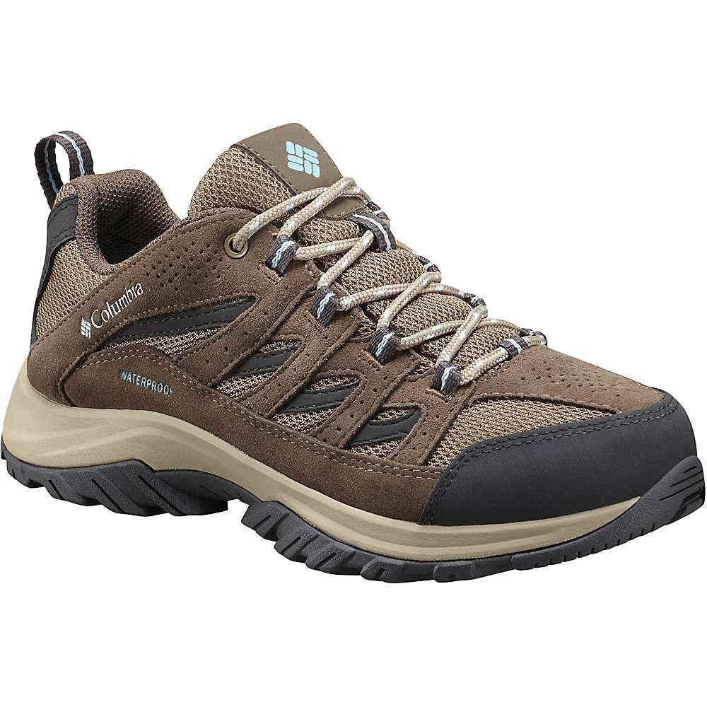 コロンビア レディース 陸上 シューズ・靴【Columbia Crestwood Waterproof Shoe】Pebble / Oxygen