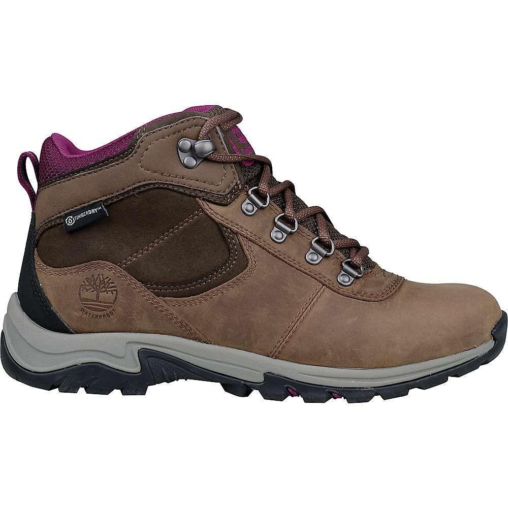 ティンバーランド レディース ハイキング・登山 シューズ・靴【Mt. Maddsen Mid Leather WP Boot】Medium Brown Full-Grain