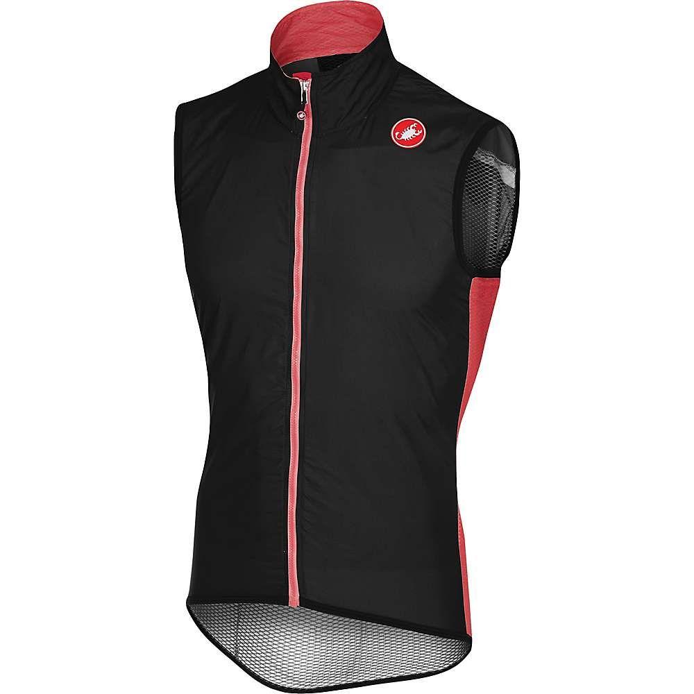 カステリ メンズ 自転車 トップス【Pro Light Wind Vest】Black