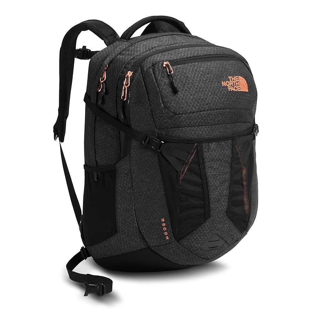ザ ノースフェイス レディース バッグ パソコンバッグ【Recon Backpack】TNF Black Heather / Burnt Coral Metallic