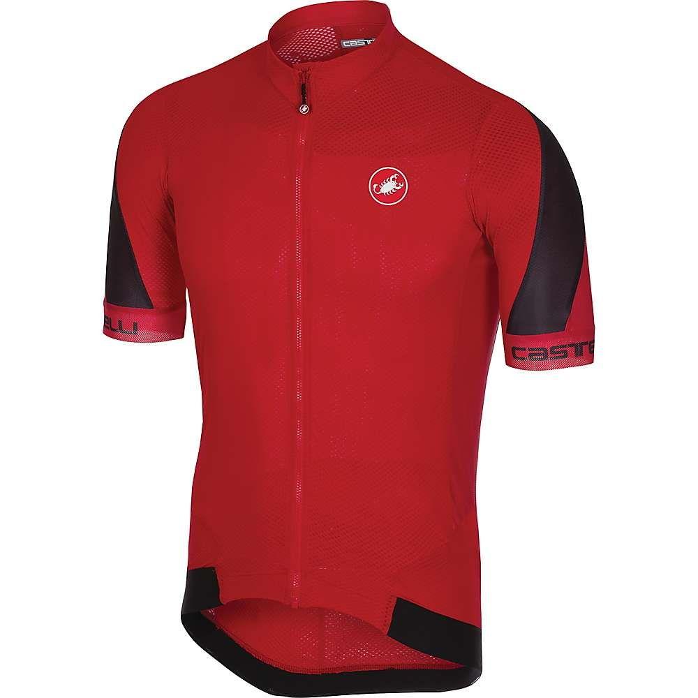 カステリ メンズ 自転車 トップス【Volata 2 Full Zip Jersey】Red / Black