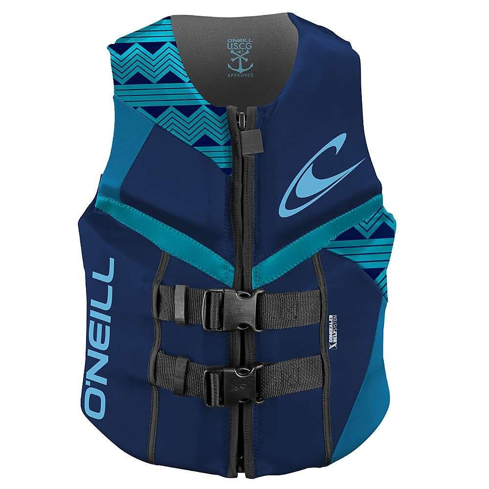 オニール レディース 水着・ビーチウェア ラッシュガード【O'Neill Reactor USCG Vest】Navy / Riv / Turquoise