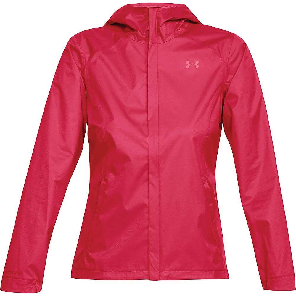 アンダーアーマー レディース アウター レインコート【UA Overlook Jacket】Hollywood Heather / Pink Shock / Pink Shock