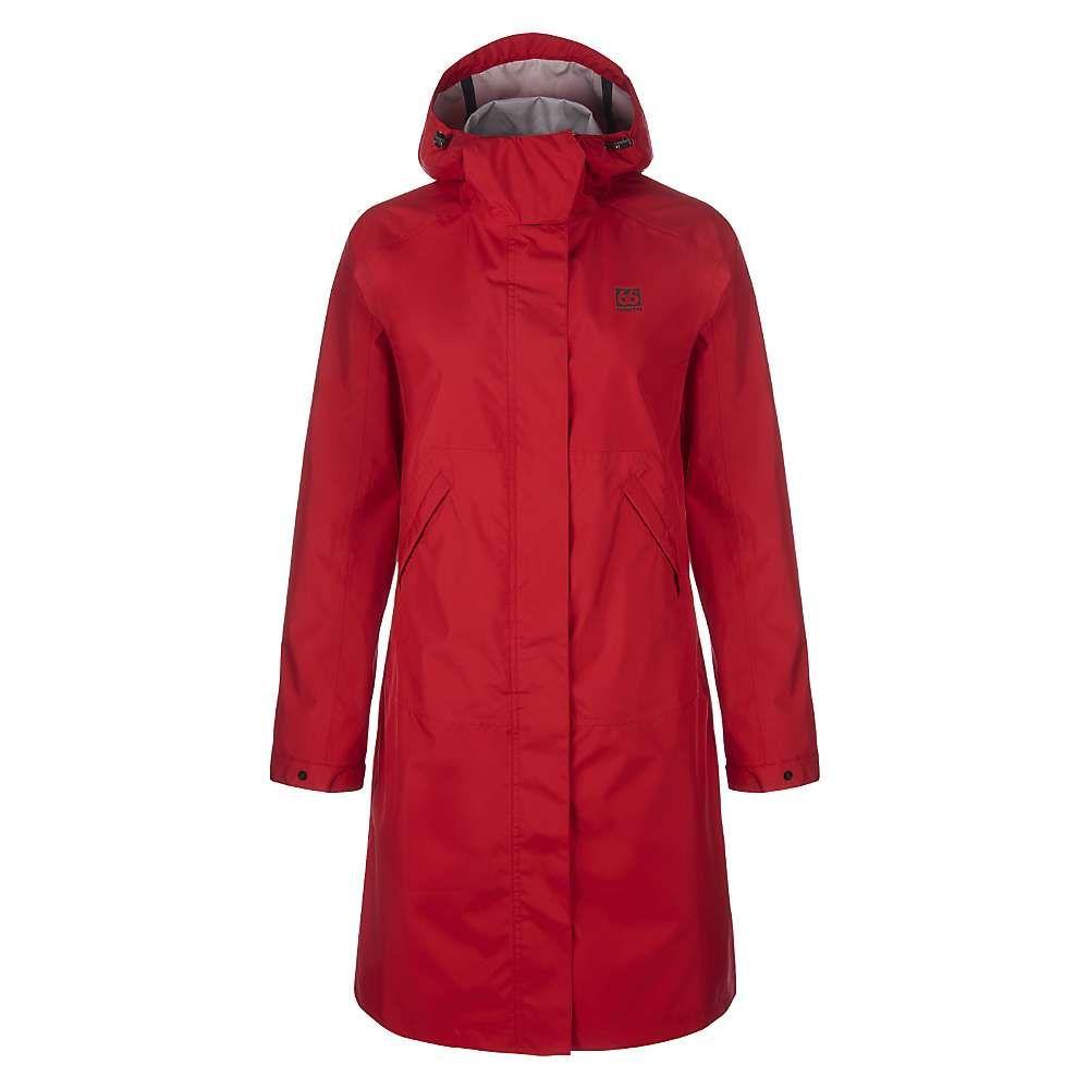 66ノース レディース アウター レインコート【Heidmork Coat】Red