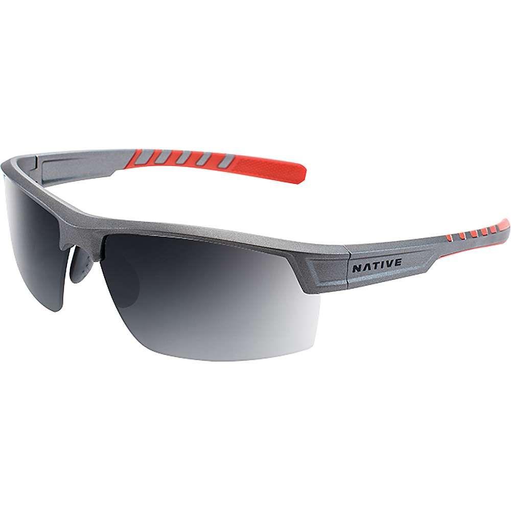 ネイティブ メンズ メガネ・サングラス【Catamount Polarized Sunglasses】Platinum / Grey Polarized