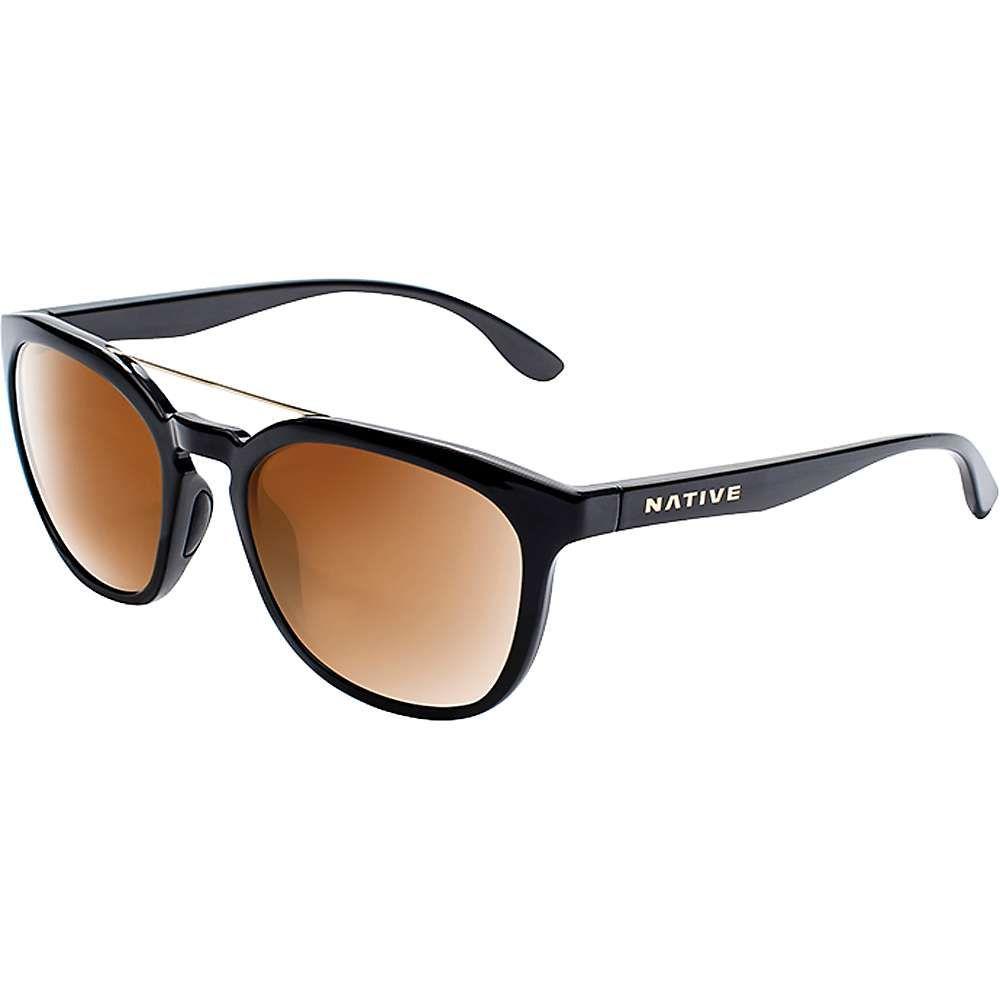 ネイティブ メンズ メガネ・サングラス【Sixty Six Polarized Sunglasses】Gloss Black / Bronze Reflex Polarized