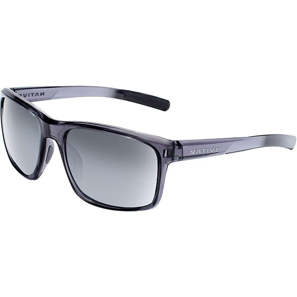 ネイティブ メンズ メガネ・サングラス【Natuve Wells Polarized Sunglasses】Dark Crystal Grey / Silver Reflex Polarized