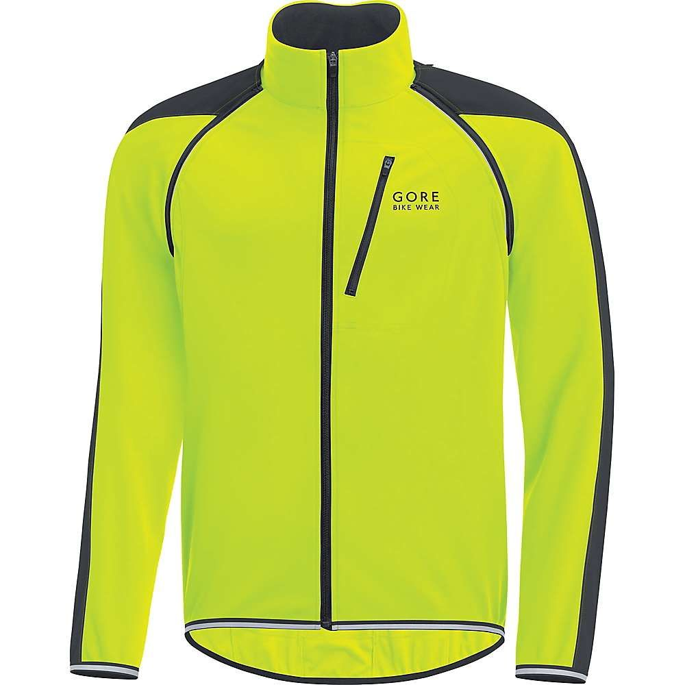 ゴアウェア メンズ 自転車 アウター【Phantom Plus Gore Windstopper Zip Off Jacket】Neon Yellow / Black