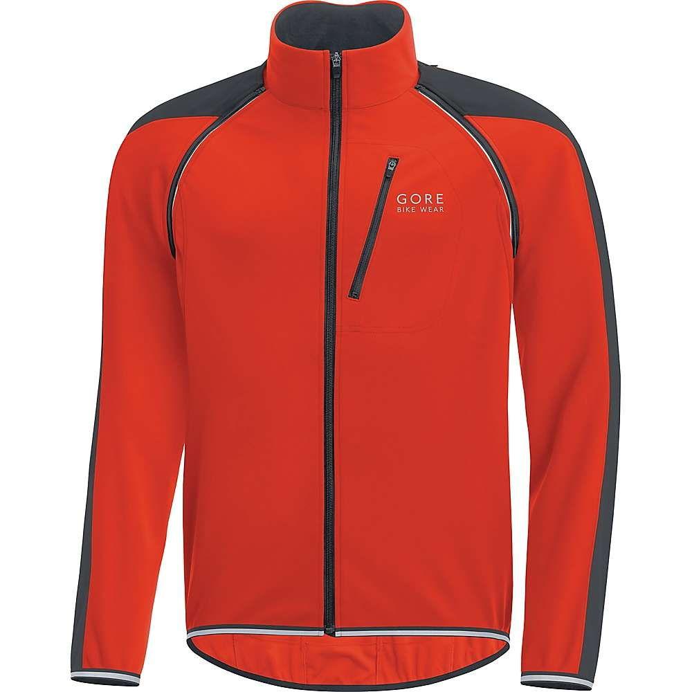 ゴアウェア メンズ 自転車 アウター【Phantom Plus Gore Windstopper Zip Off Jacket】Orange.com / Black