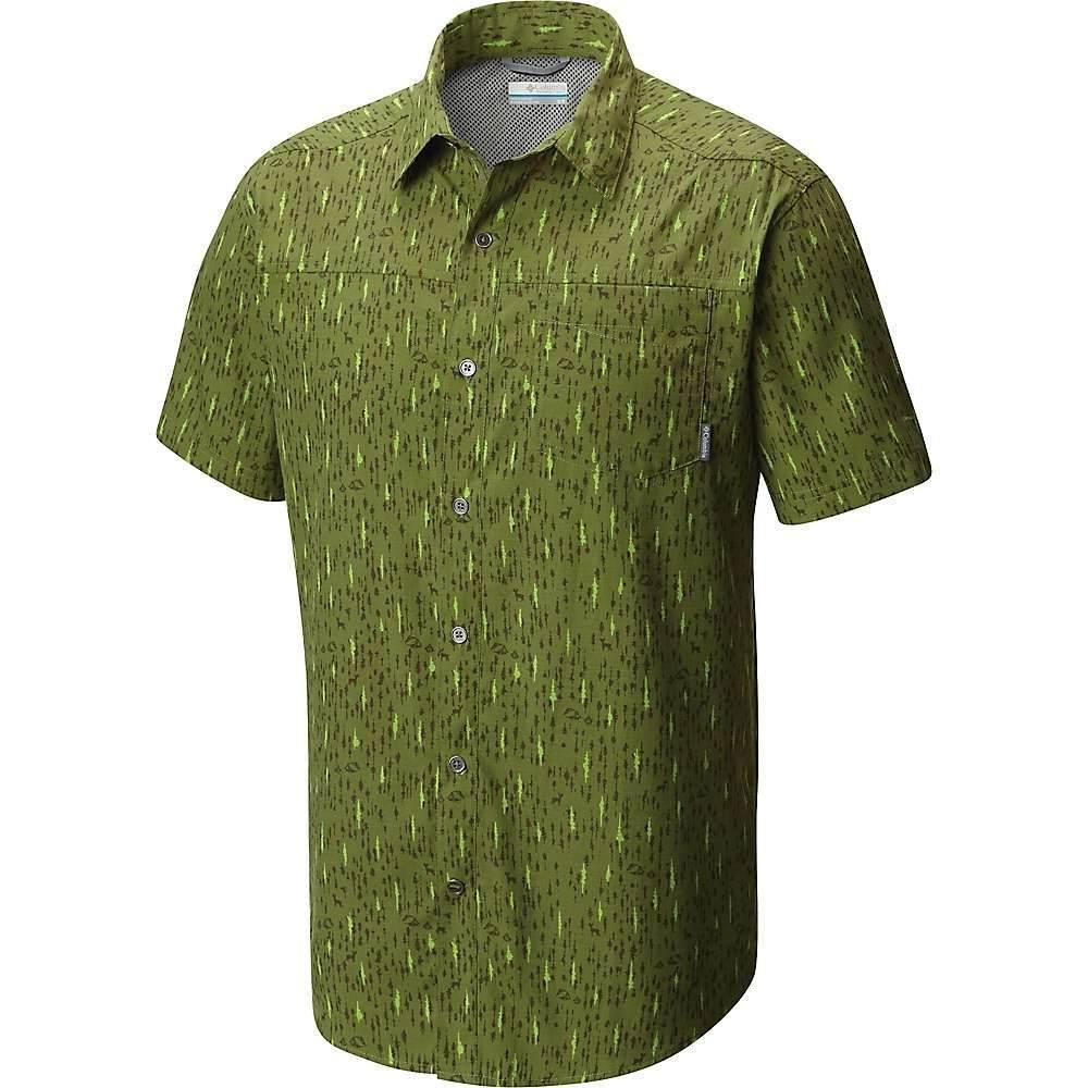 コロンビア メンズ ハイキング・登山 トップス【Pilsner Peak Print SS Shirt】Mosstone / Tree Print