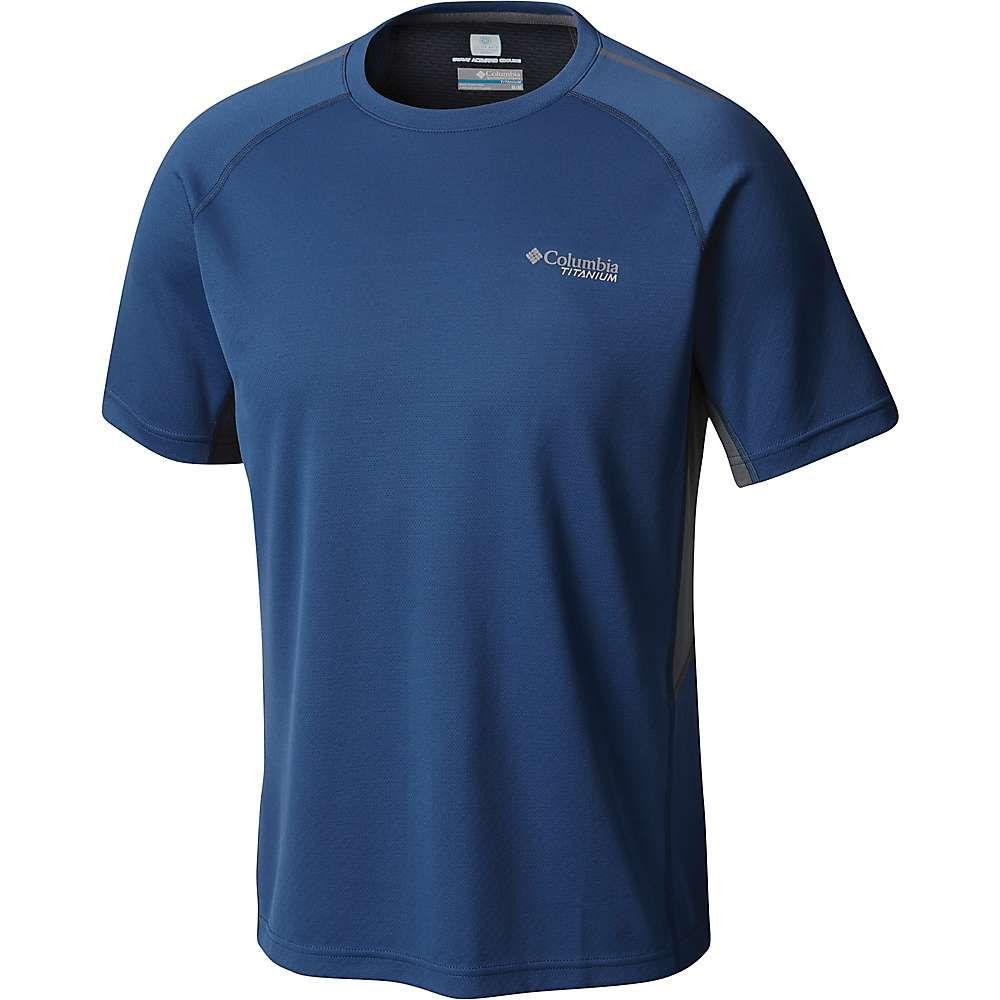 コロンビア メンズ ハイキング・登山 トップス【Titan Trail SS Shirt】Carbon / Graphite