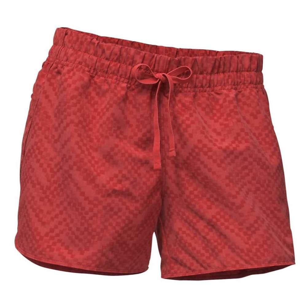ザ ノースフェイス レディース ハイキング・登山 ボトムス・パンツ【Class V 4 Inch Short】Sunbaked Red Chevron Print