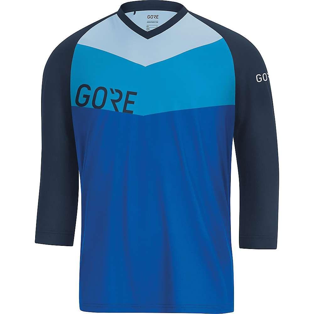 ゴアウェア メンズ 自転車 トップス【Gore C5 All Mountain 3/4 Jersey】Dynamic Cyan / Marine Blue