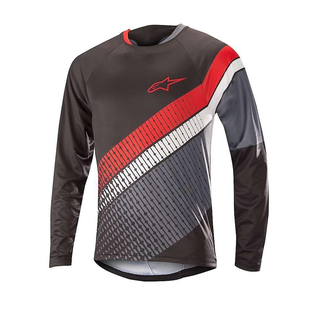 アルパインスターズ メンズ 自転車 トップス【Predator LS Jersey】Black / Steel Grey / Red