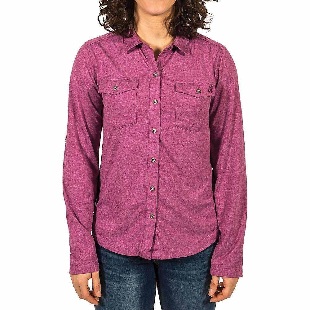 グラミチ レディース ハイキング・登山 トップス【Traveler Convertible Shirt】Heather Boysenberry