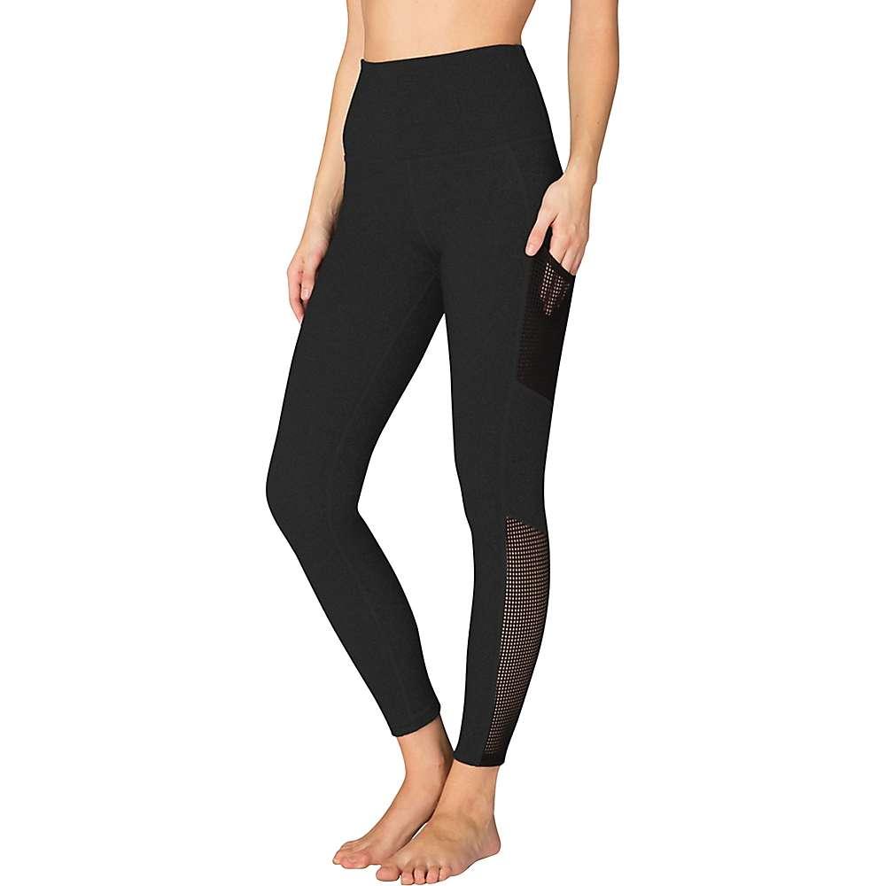 ビヨンドヨガ レディース インナー タイツ【Beyond Yoga Mesh Behavior High Waist Legging】Jet Black