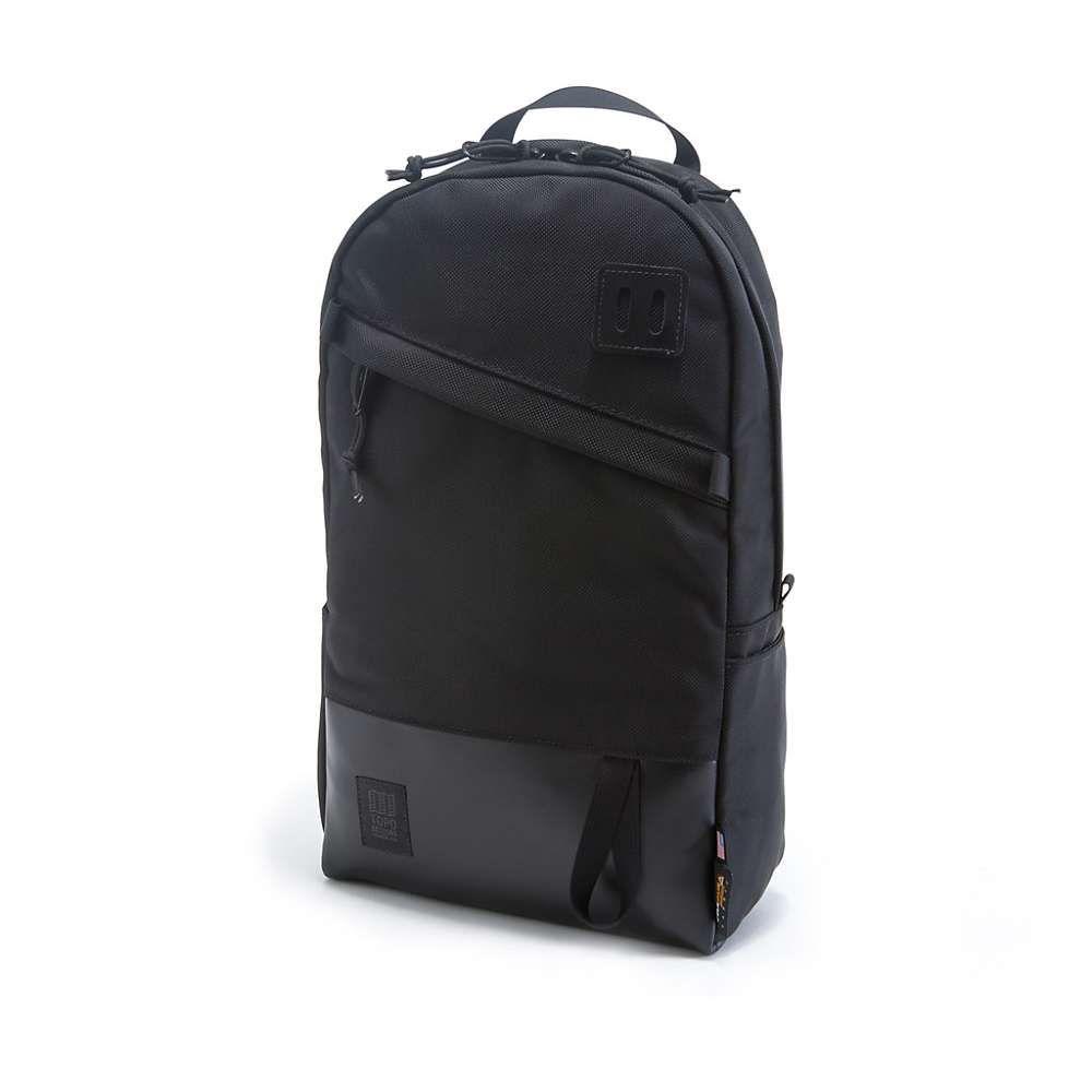 トポ デザイン ユニセックス バッグ バックパック・リュック【Daypack】Ballistic Black / Black Leather
