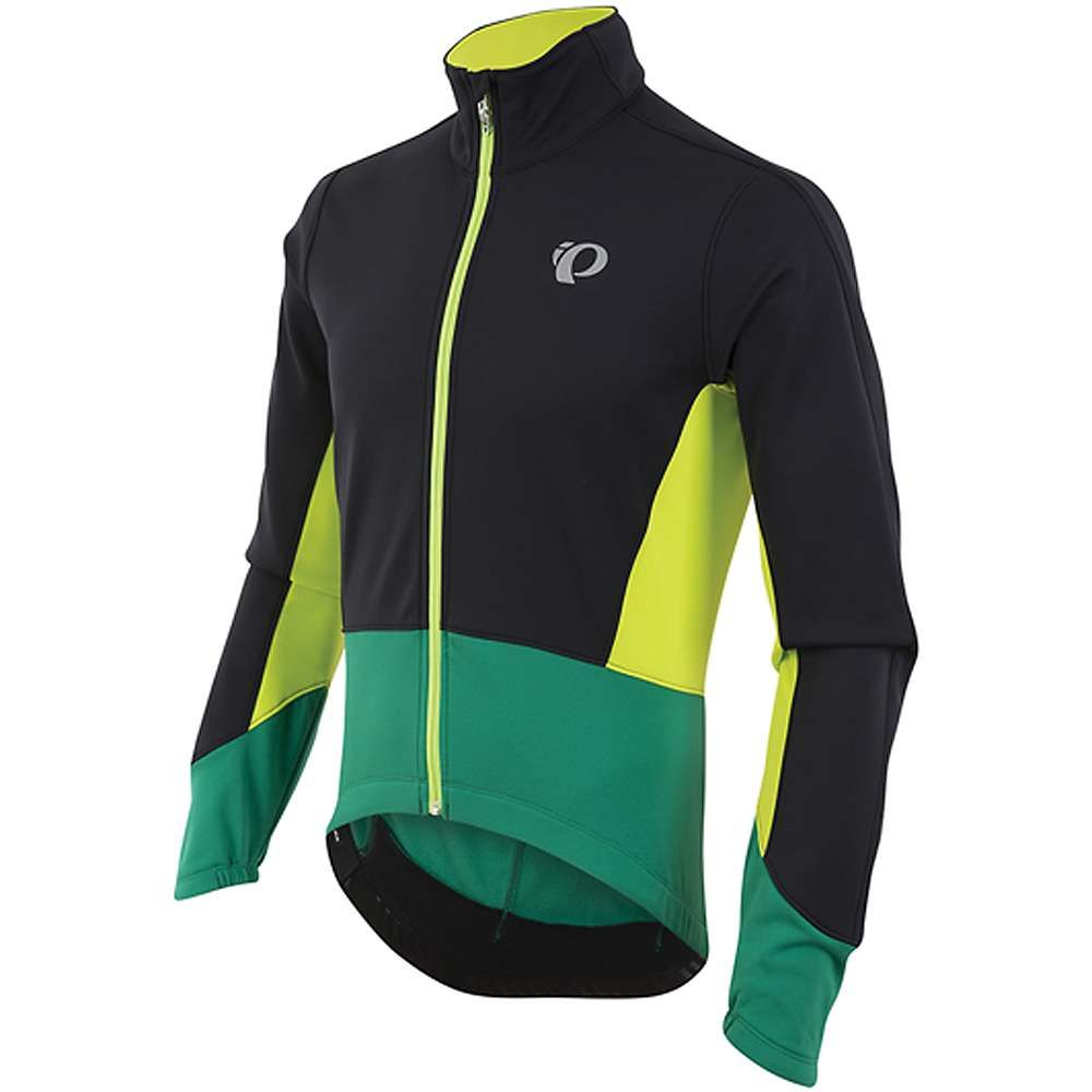 パールイズミ メンズ 自転車 アウター【ELITE Pursuit Softshell Jacket】Black / Pepper Green