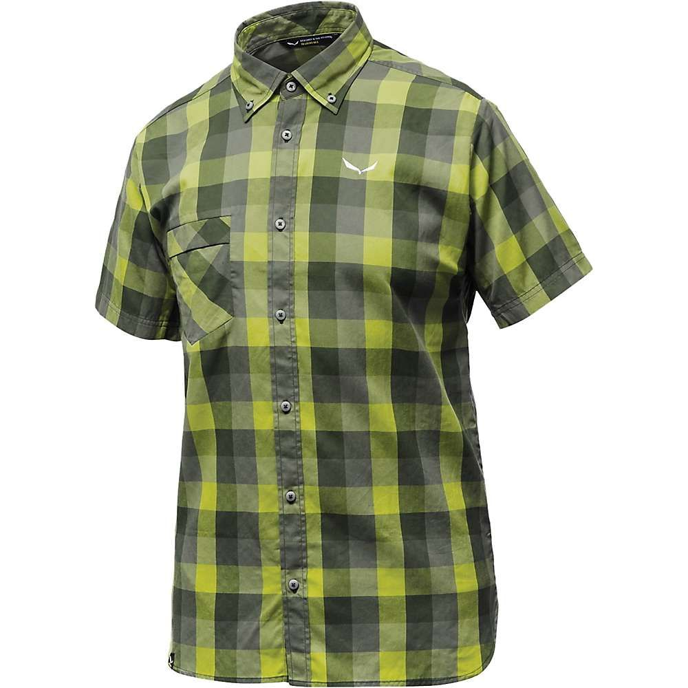 サレワ メンズ ハイキング・登山 トップス【Puez Ecoya Dry SS Shirt】M Dark Gr / Apple / Quar