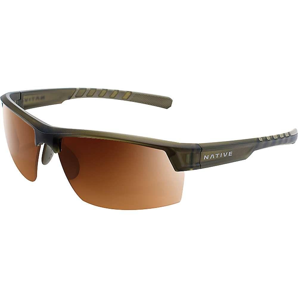 ネイティブ メンズ メガネ・サングラス【Catamount Polarized Sunglasses】Matte Moss / Brown Polarized
