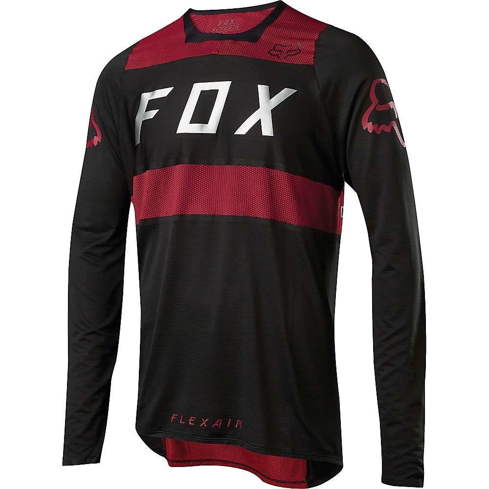 フォックス メンズ 自転車 トップス【Flexair LS Jersey】Red / Black