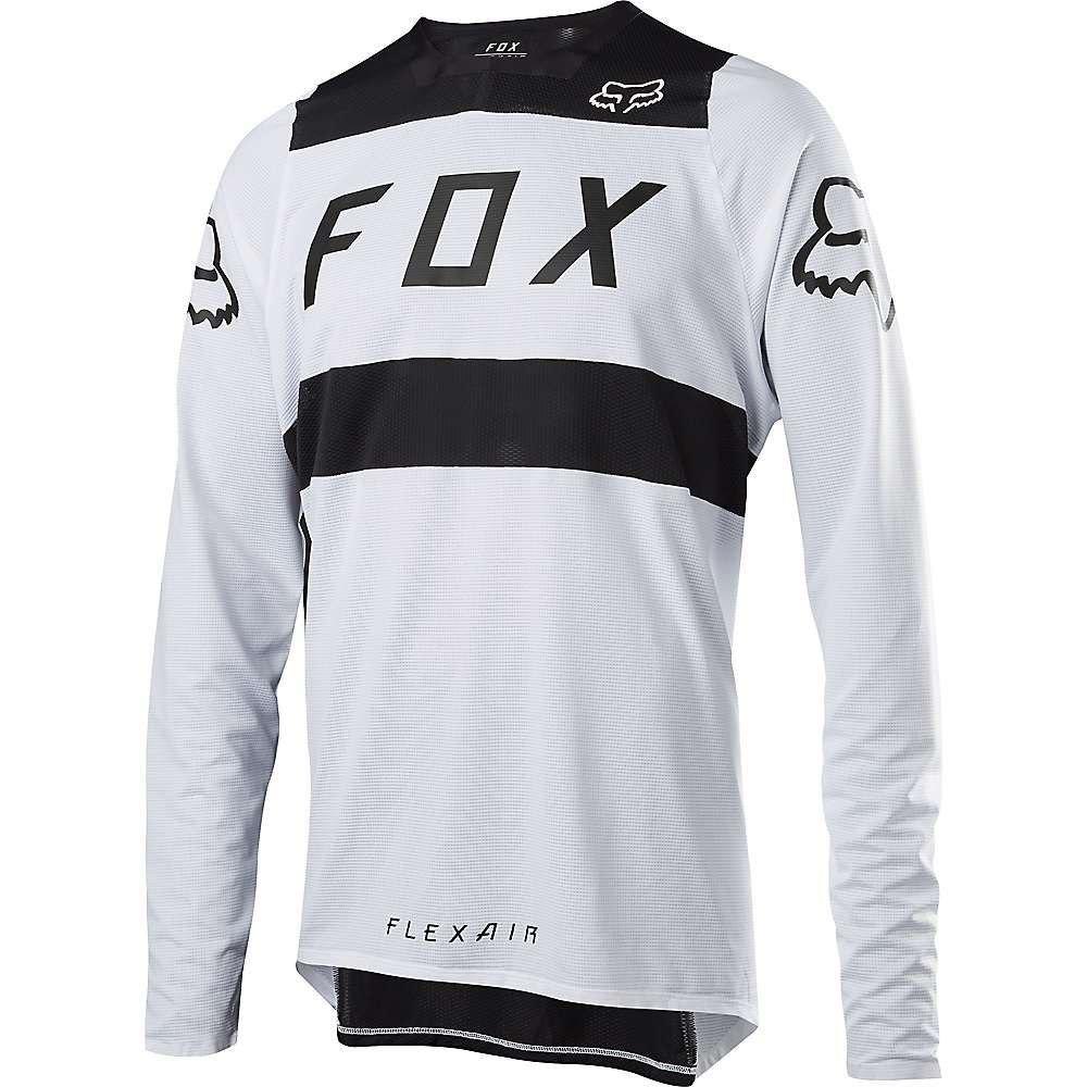 フォックス メンズ 自転車 トップス【Flexair LS Jersey】White / Black