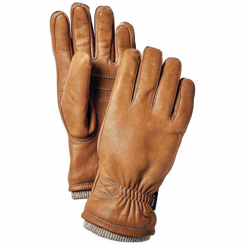 ヘスタ メンズ スキー・スノーボード グローブ【Deerskin Swisswool Rib Cuff Glove】Cork