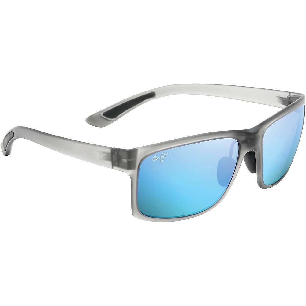 マウイジム メンズ スポーツサングラス【Pokowai Arch Polarized Sunglasses】Translucent Matte Grey / Blue Hawaii Polarized