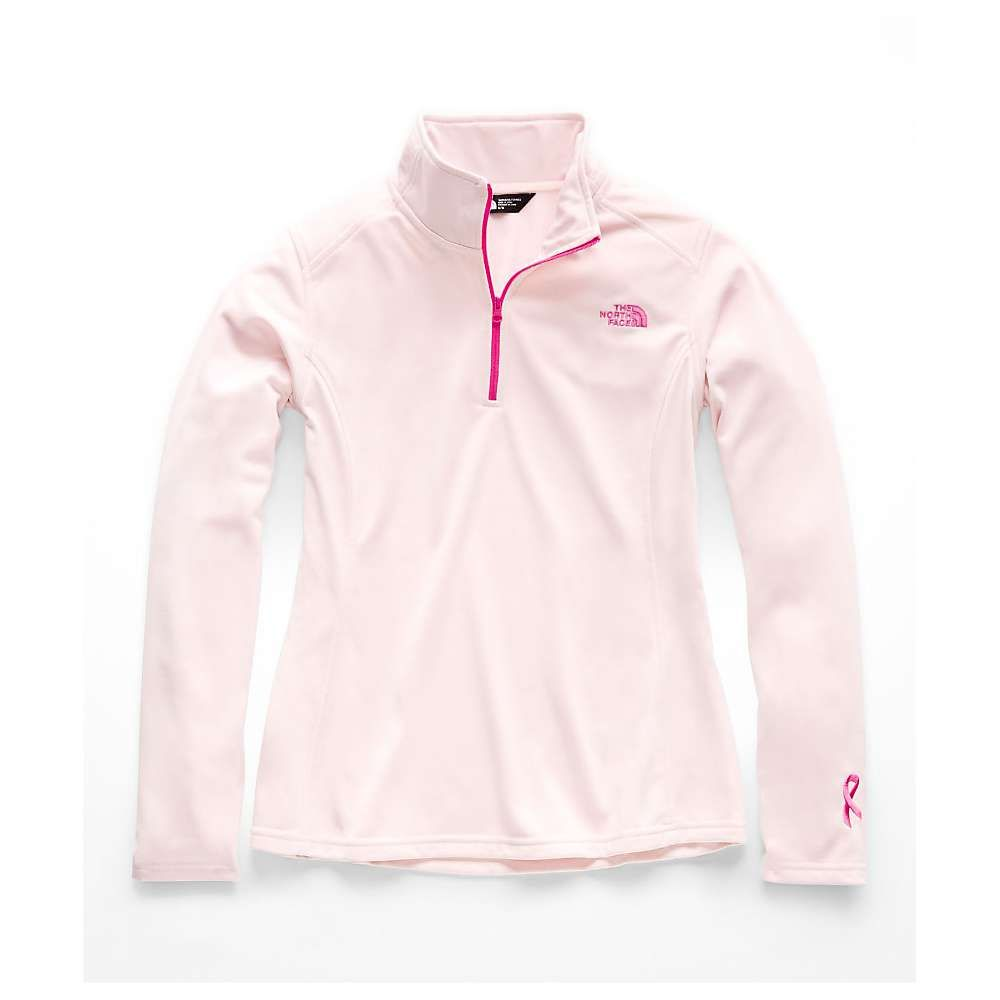ザ ノースフェイス レディース ハイキング・登山 トップス【PR Tech Glacier 1/4 Zip Top】Purdy Pink / Raspberry Rose