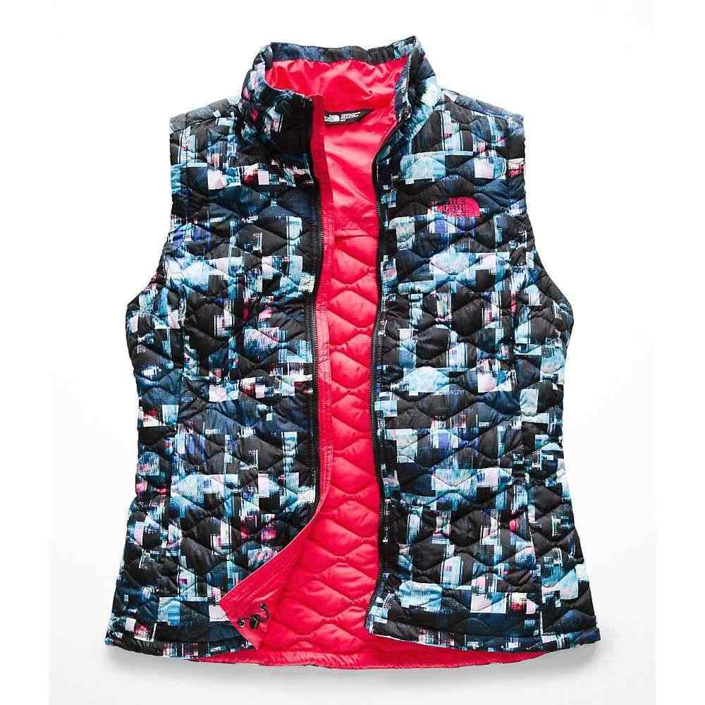 ザ ノースフェイス レディース トップス ベスト・ジレ【ThermoBall Vest】Multi Glitch Print