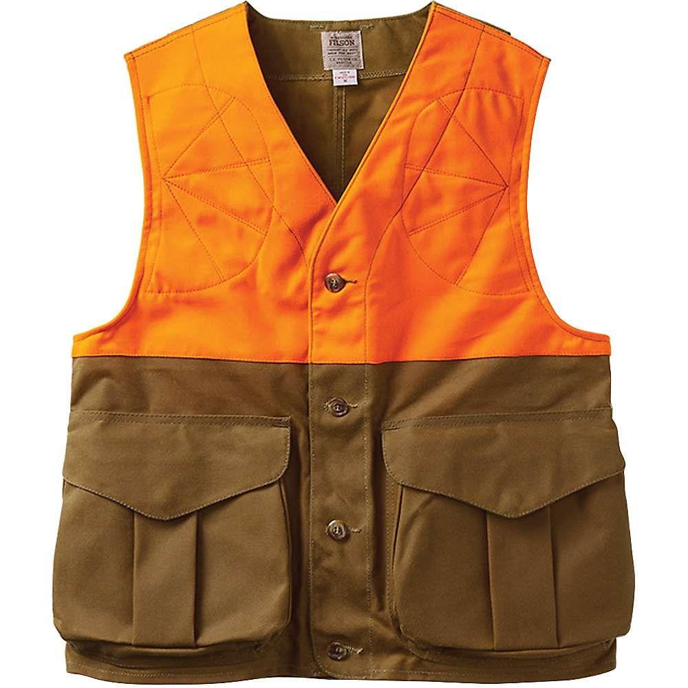 フィルソン メンズ 釣り・フィッシング トップス【Upland Hunting Vest Blaze】Tan / Blaze Orange