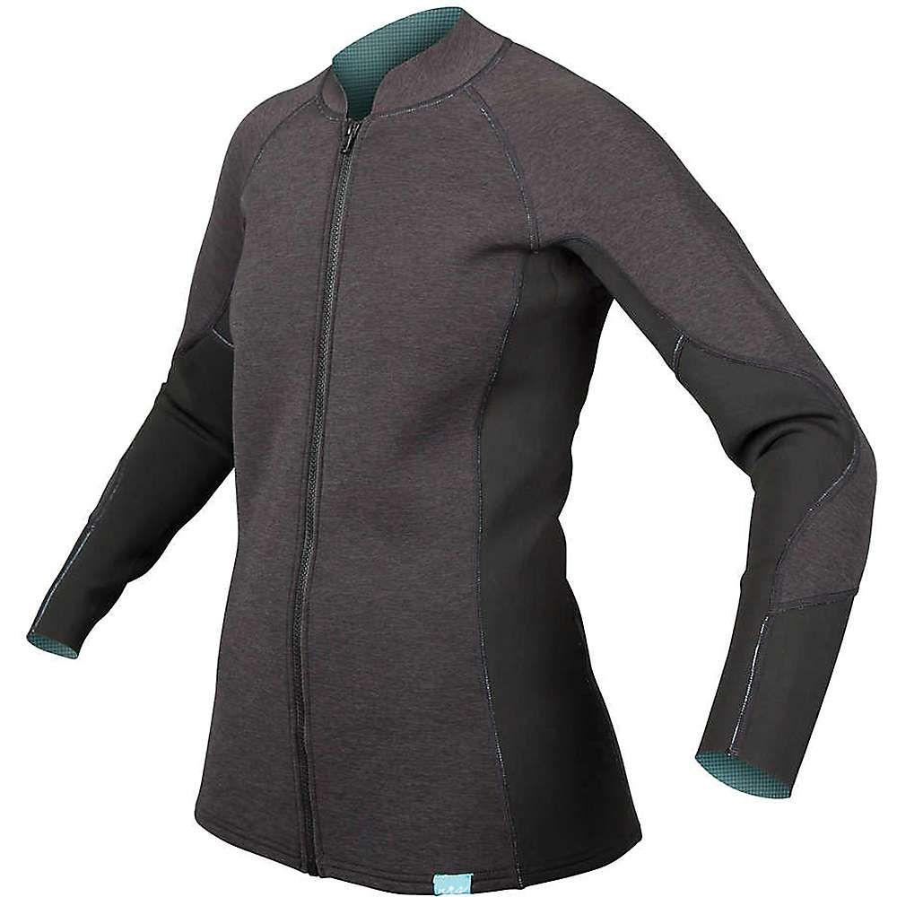 エヌアールエス レディース サーフィン トップス【HydroSkin 1.5 Jacket】Charcoal Heather
