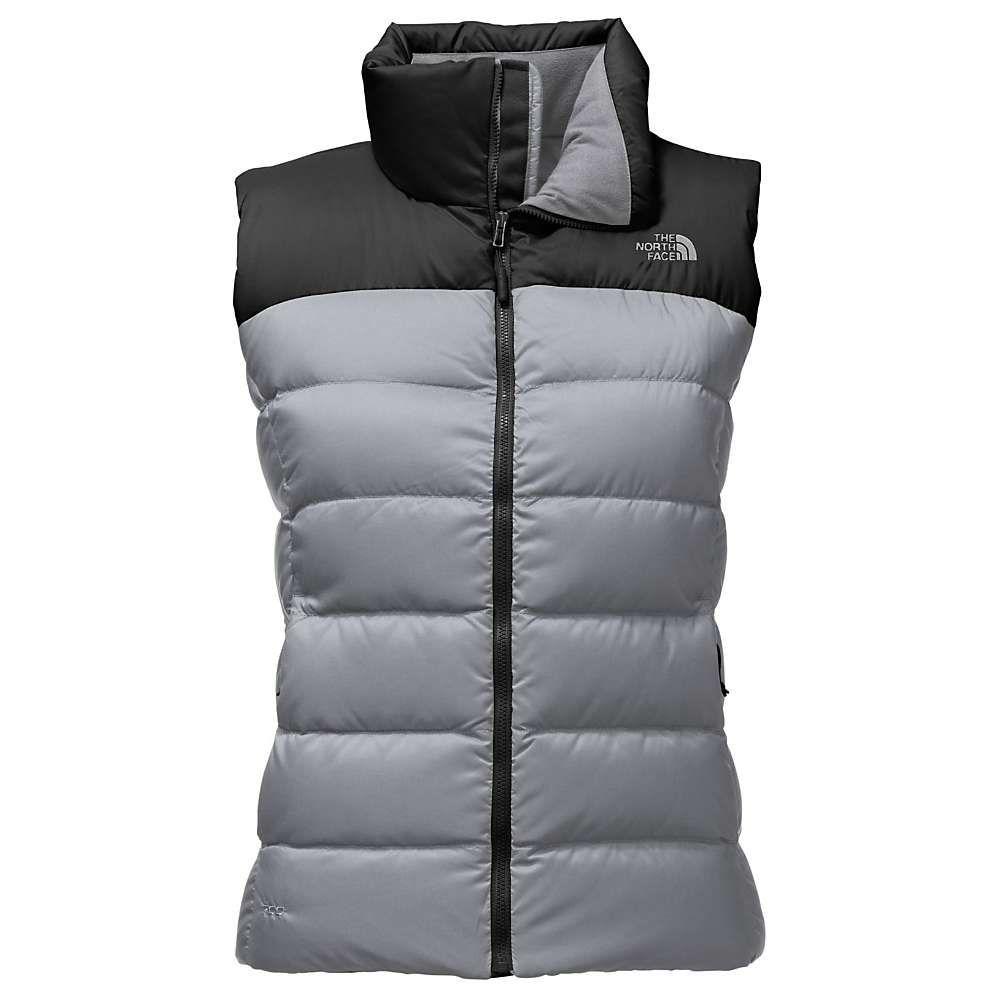 ザ ノースフェイス レディース トップス ベスト・ジレ【Nuptse Vest】Mid Grey / TNF Black