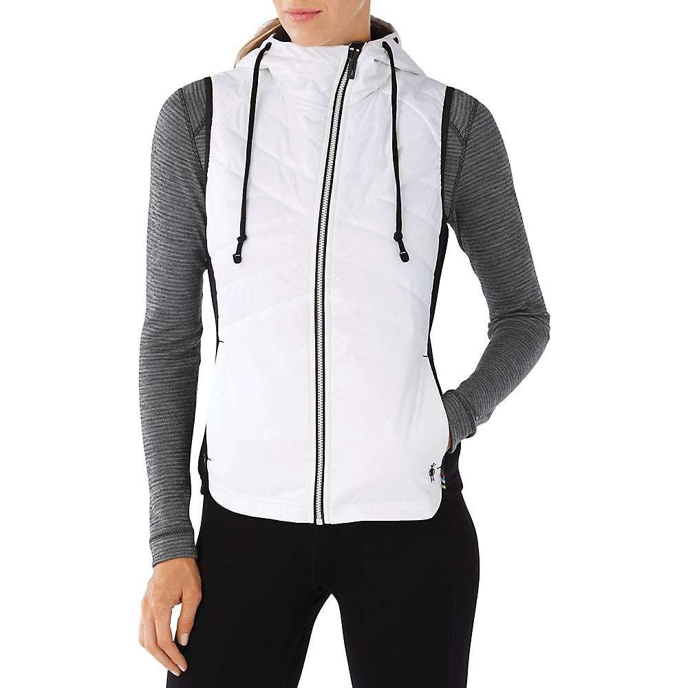 スマートウール レディース トップス ベスト・ジレ【Double Propulsion 60 Hooded Vest】Black / White