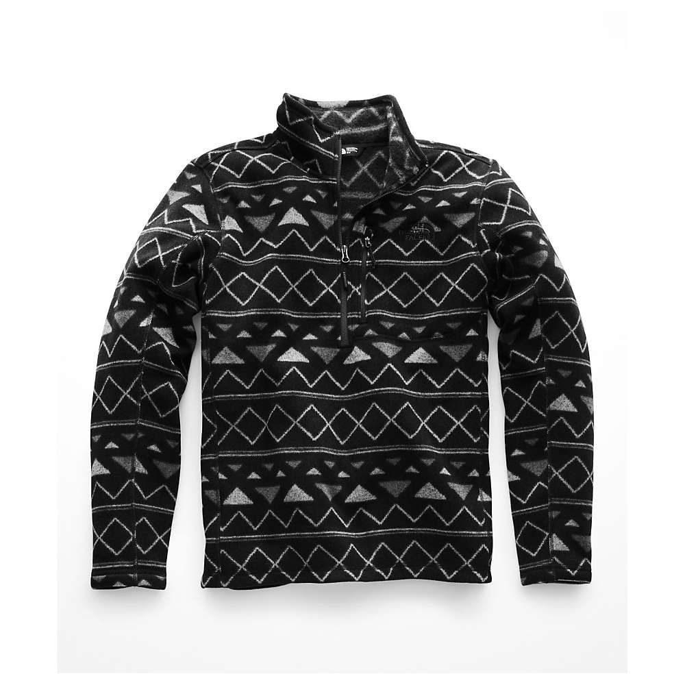 ザ ノースフェイス メンズ トップス【Novelty Gordon Lyons 1/4 Zip Top】TNF Black Triangle Stripe Print