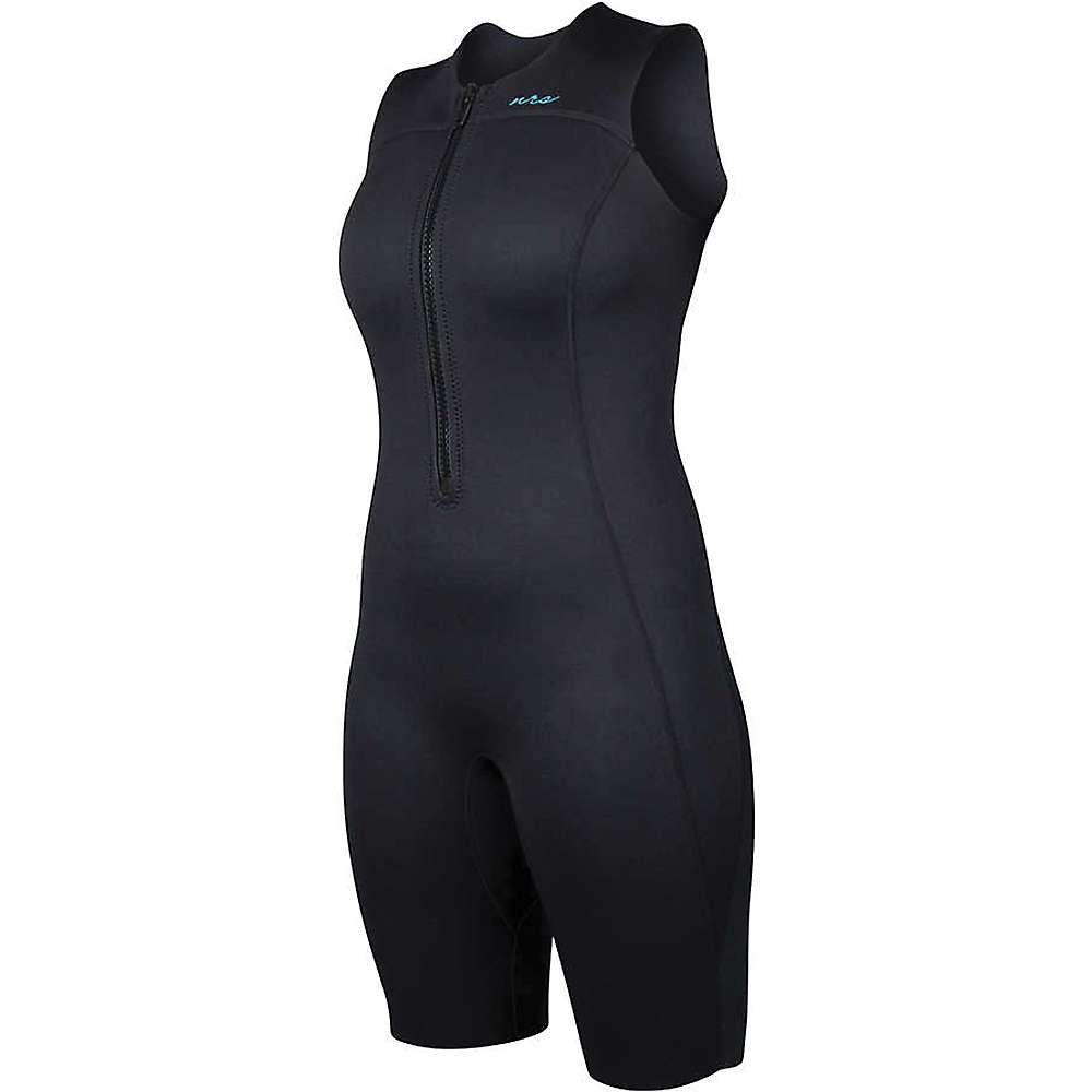 エヌアールエス レディース サーフィン ウェットスーツ【2.0 Shorty Wetsuit】Black