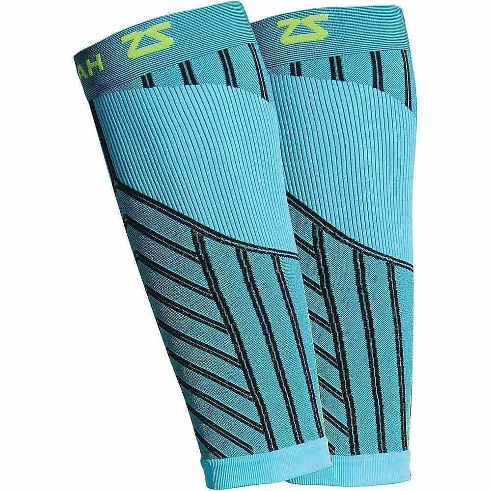 ゼンサー ユニセックス フィットネス・トレーニング サポーター【POP Compression Leg Sleeves】Aqua
