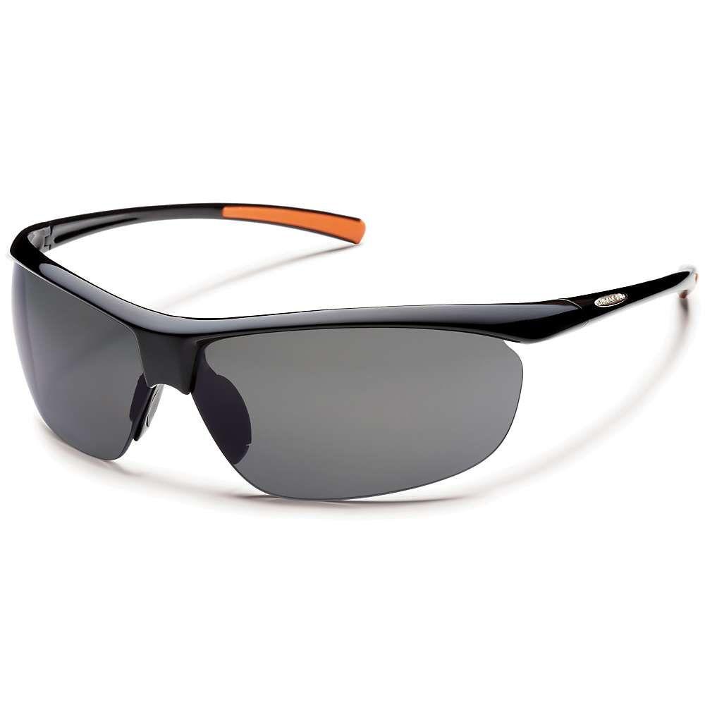 サンクラウド Suncloud メンズ スポーツサングラス【Zephyr Polarized Sunglasses】Black / Gray Polarized
