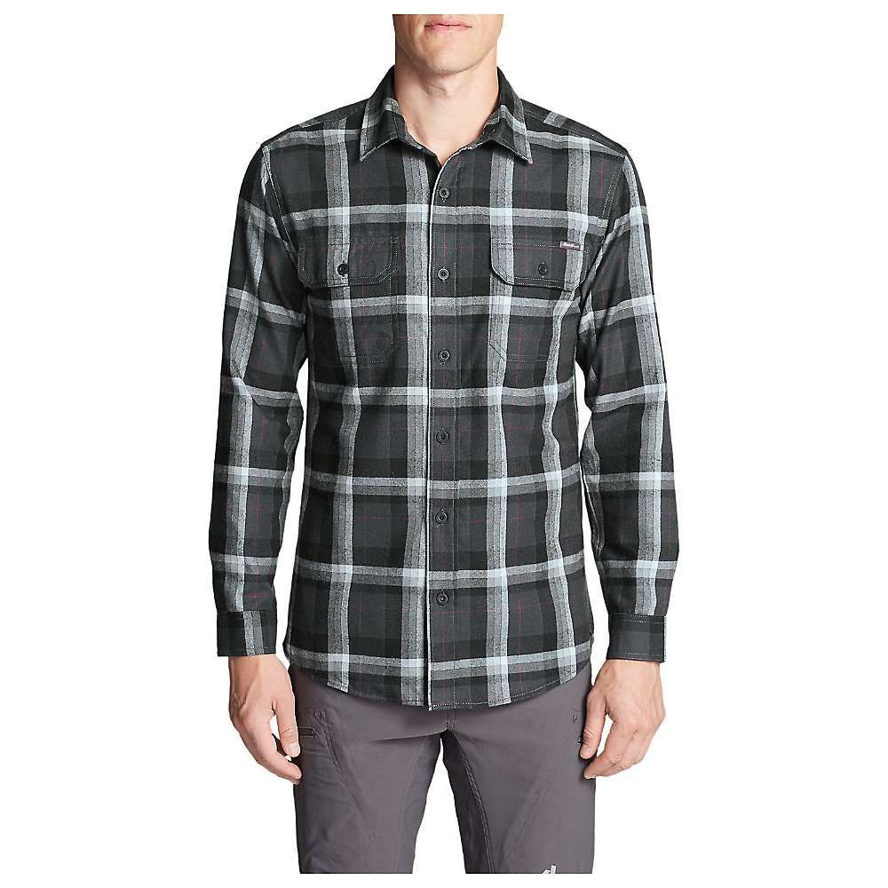 エディー バウアー Eddie Bauer Travex メンズ ハイキング・登山 トップス【Expedition Flannel Shirt】Black